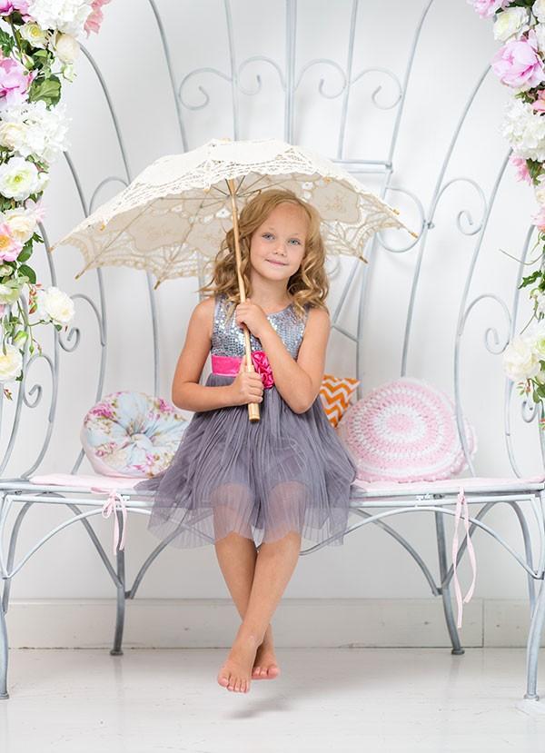 Dečija haljina ljubičasta